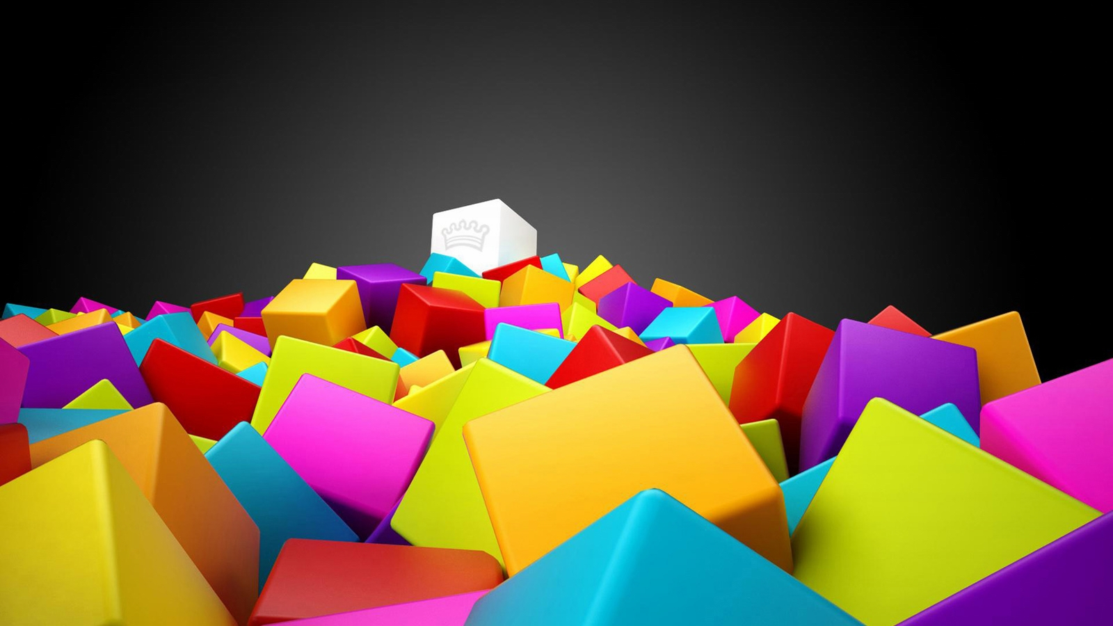 awesome 3d cubes and cube king hd wallpaper | hd wallpaper