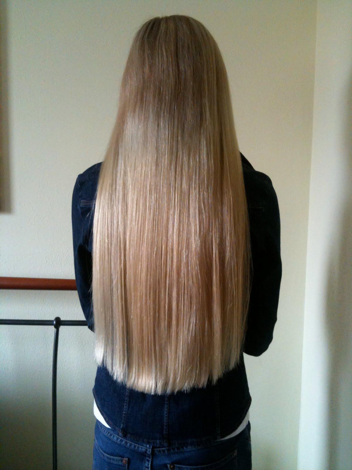 Lange haare gerade kante