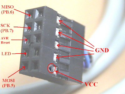 10 pin (5x2)  to 6 pin Downloader Converter for AVR Microcontroller