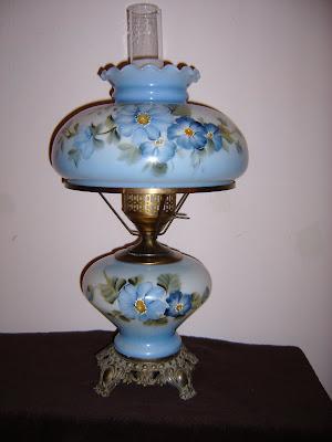 Nittany Inspirations Blue Monday Hurricane Lamp