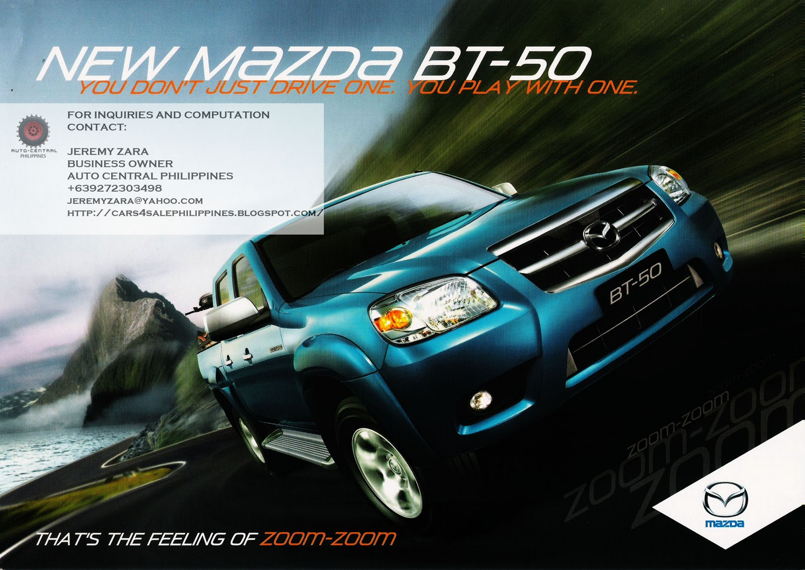 Cars For Sale Philippines Brand New: Brand New Cars For Sale: BRAND NEW MAZDA BT 500