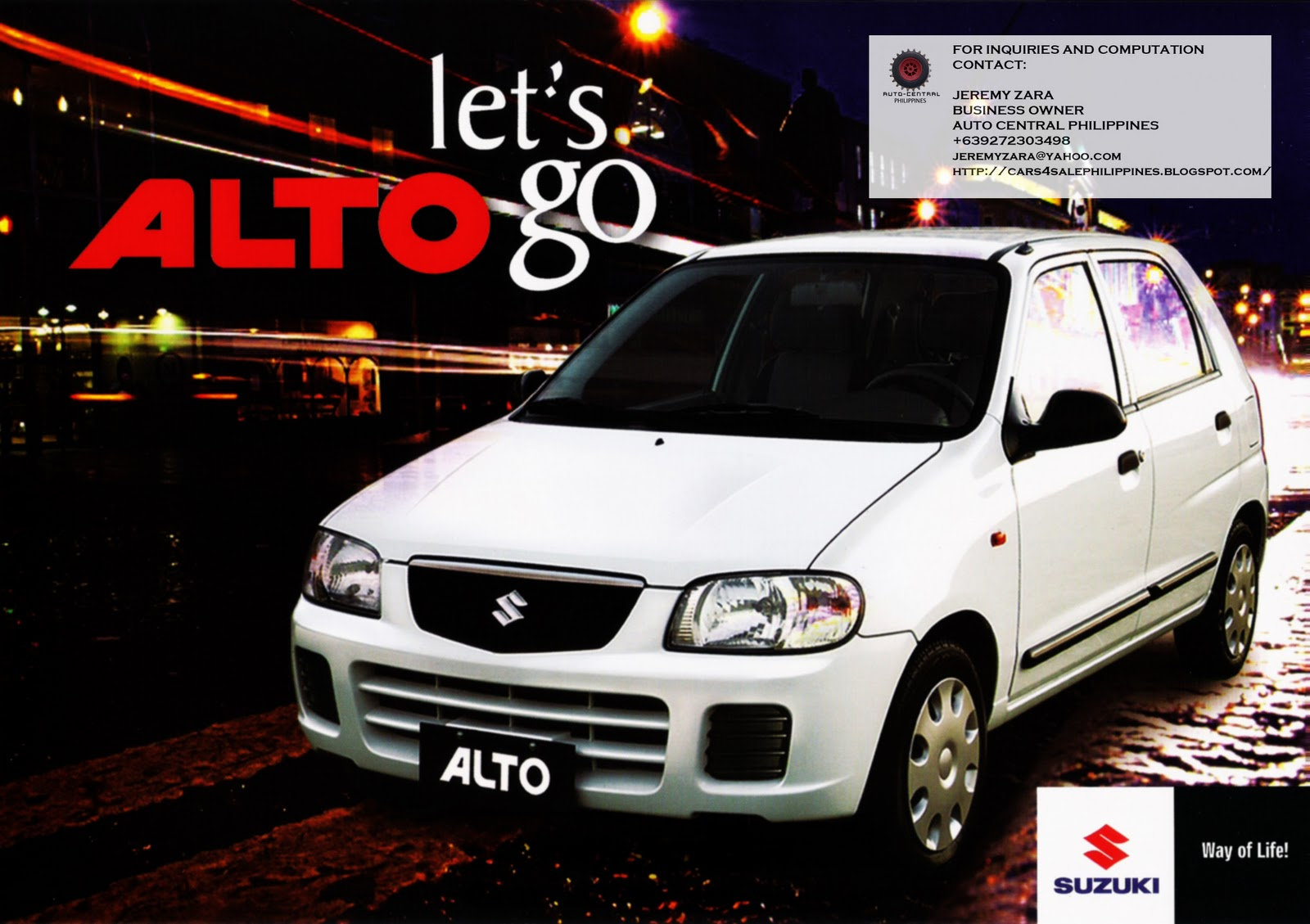 Cars For Sale Philippines Brand New: Brand New Cars For Sale: BRAND NEW SUZUKI ALTO FOR SALE