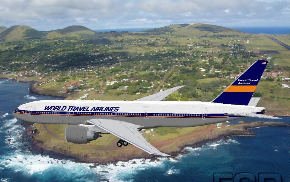 Flightsim Repaint Boeing 777 200 World Travel Airlines