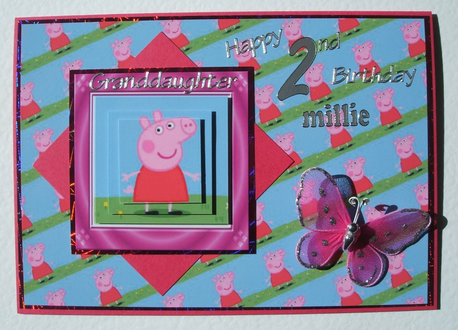 Rachel's Cards and Crafts: Peppa Pig 2nd Birthday