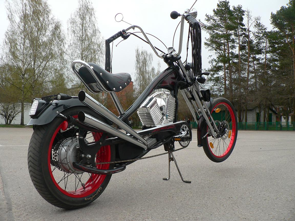 atomiczombie bikes trikes recumbents choppers ebikes velos and more chopper bike from latvia. Black Bedroom Furniture Sets. Home Design Ideas