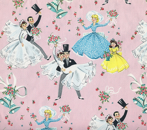 Wedding Gift Paper: Buttercup Bungalow: Vintage Wedding Gift Wrap