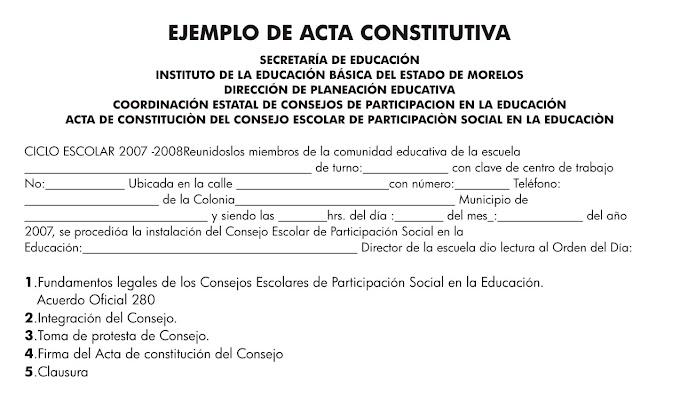MODELO DE ACTA CONSTITUTIVA C.A.