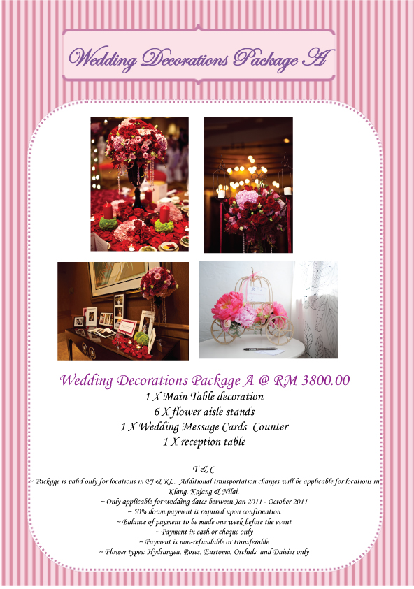 wedding decor packages prep january 2011 9000