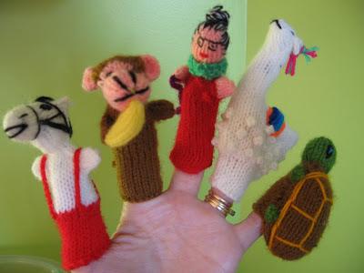 Artisanat Bolivien Marionnettes à Doigts En Laine Tricotées
