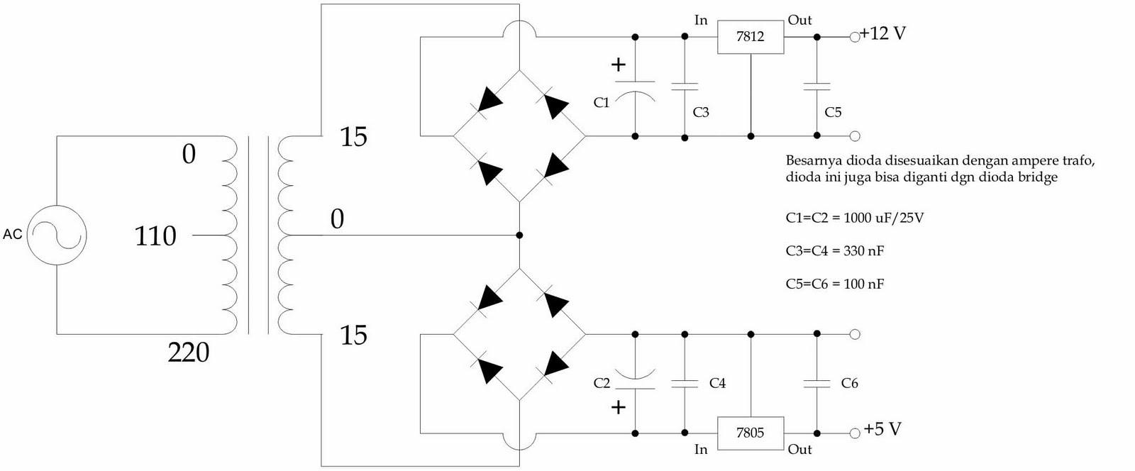 My Room  Schematic Diagram Power Supply Dual Output  12v  U0026 5v