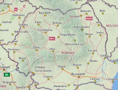 Petrodava Harta Orasului Piatra Neamt