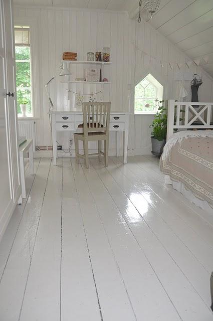 Estilo rustico pisos de madera pintados - Pintar madera blanco ...
