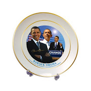 "Obama Commemorative Plate = ""Mission Accompished - An Ensnared Black Community"""