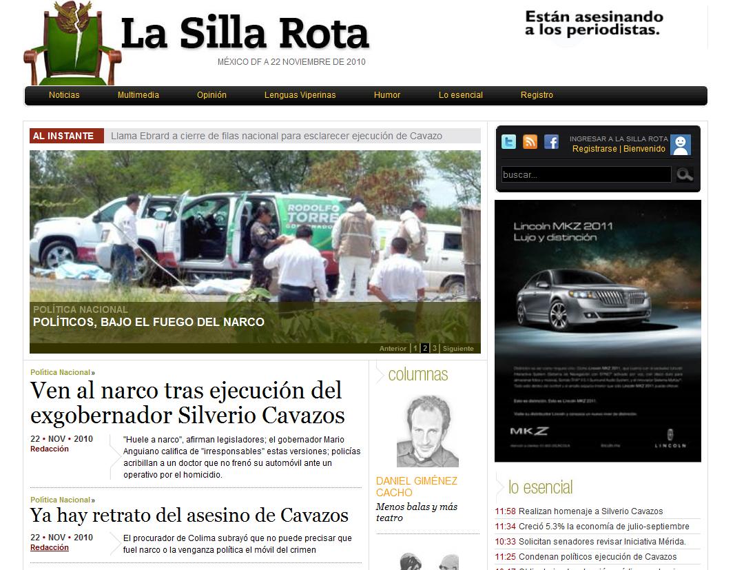 Periodismo en Pixeles Bienvenida La Silla Rota