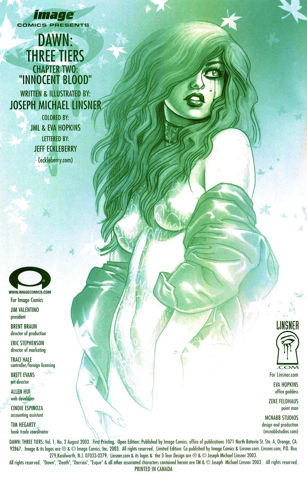 Read online Dawn: Three Tiers comic -  Issue #2 - 1