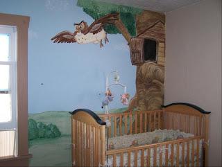 Bawden Fine Murals Winnie The Pooh Mural