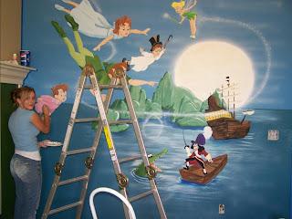 Bawden Fine Murals Peter Pan Mural Wall