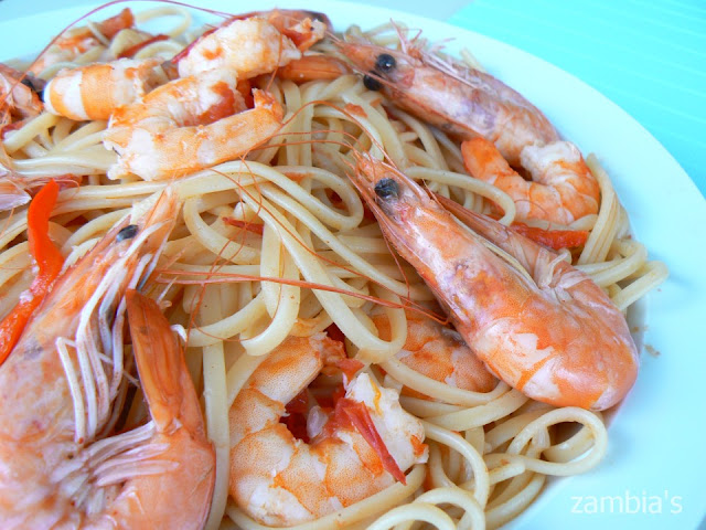 Linguine with Shrimp and Ouzo