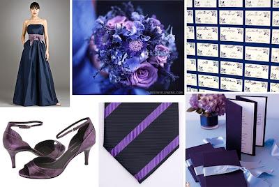 A Navy Lilac Wedding