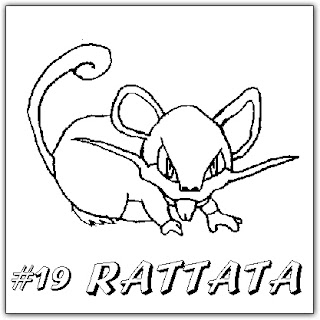POKEMON COLORING PAGES Rattata mice pokemon