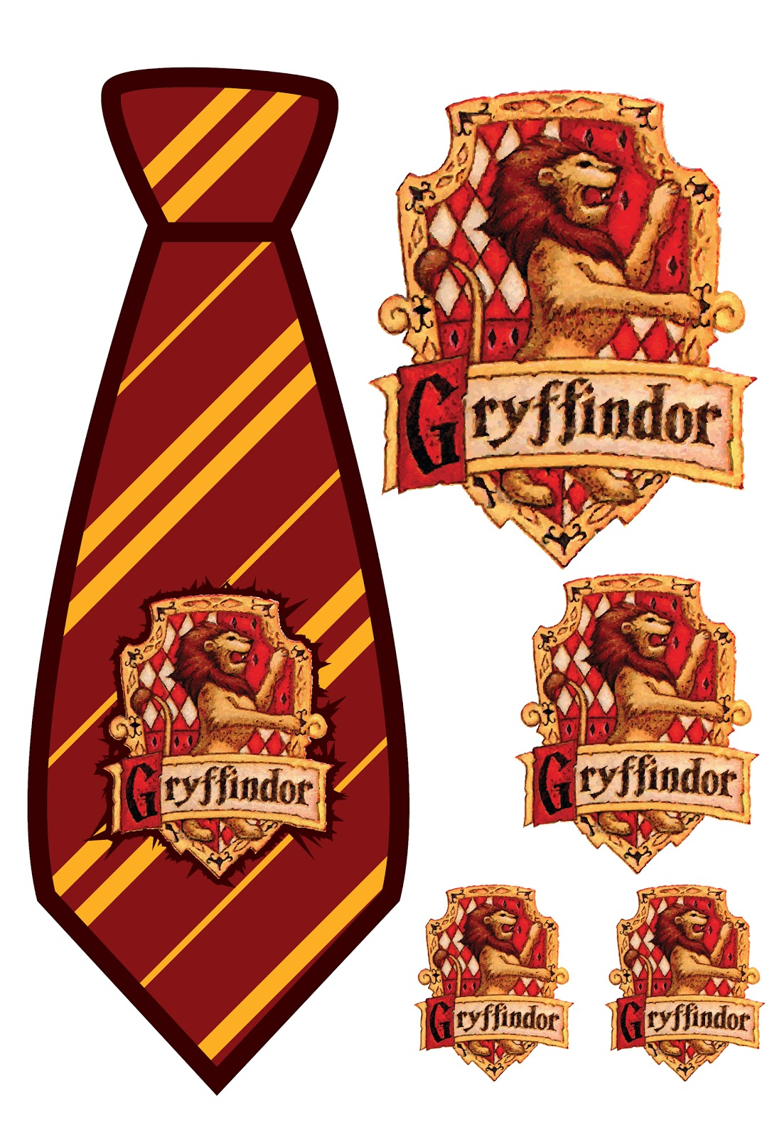 Elemonade harry potter gryffindor tie print out for Harry potter tie template