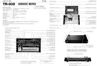 Din Sync: Roland TR-808 Service Manual