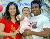 jyothika, surya and family