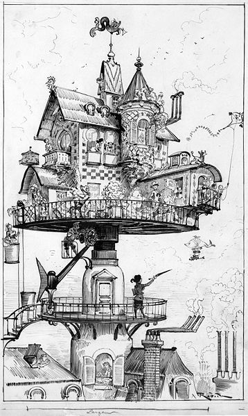 quirky houses coloring pages - photo#31