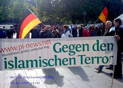 Berlin: PI banner at demo