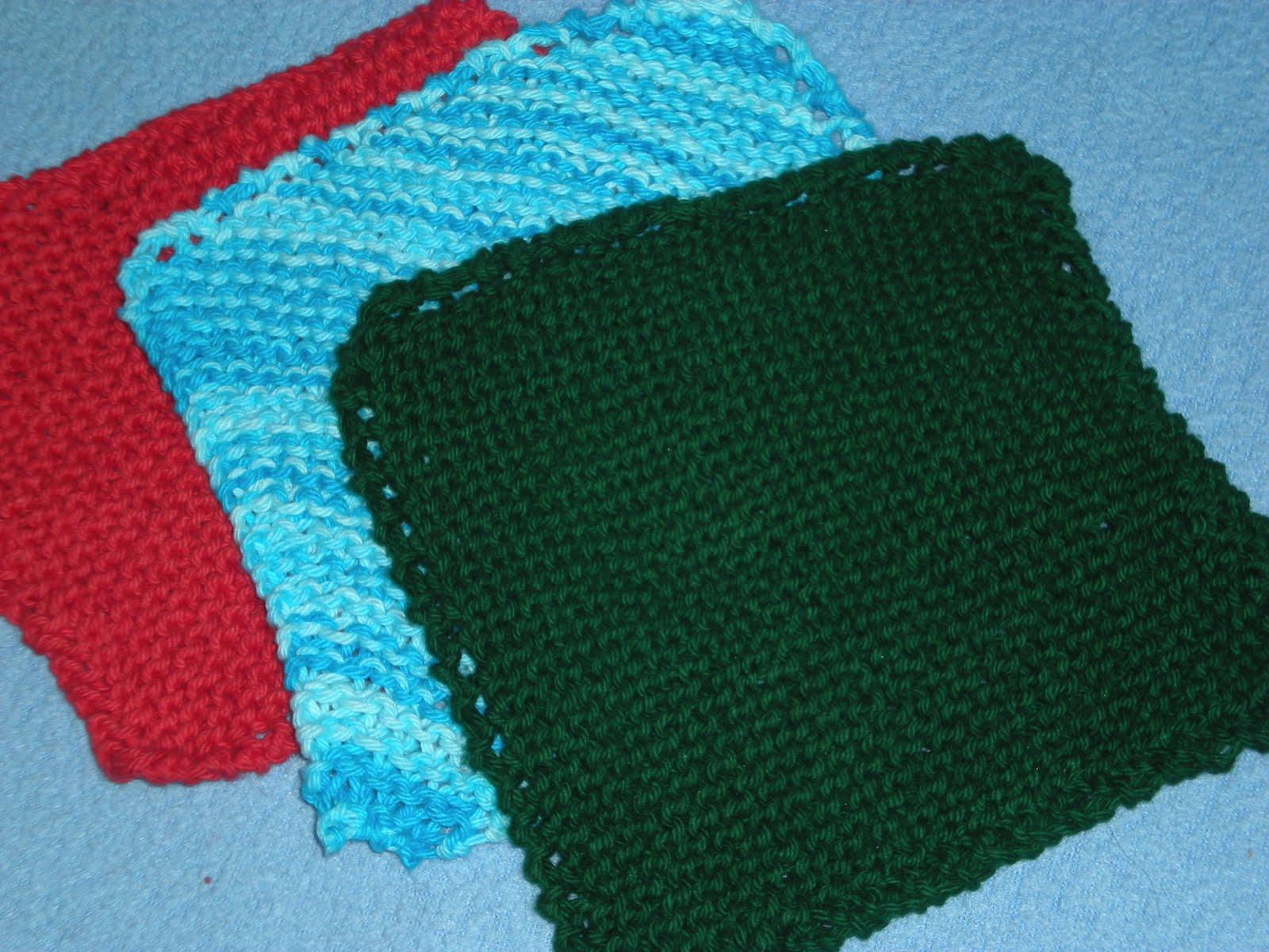 Easy Knit Dishcloths - Christmas Crafts, Free Knitting Patterns