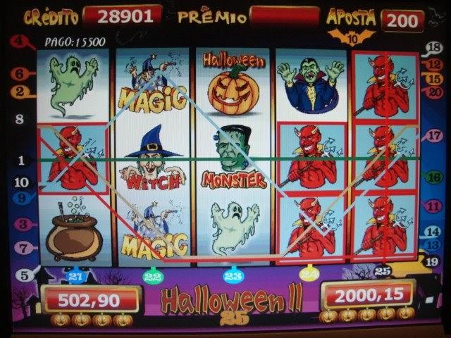 Jogar halloween 25 linhas
