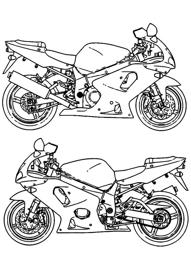 Kleurplaat Motor Harley Juegan Aprenden Y Se Divierten Motos