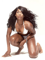 Venus Williams photo shoot in white bikinis