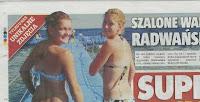 The Radwanska sisters in bikinis