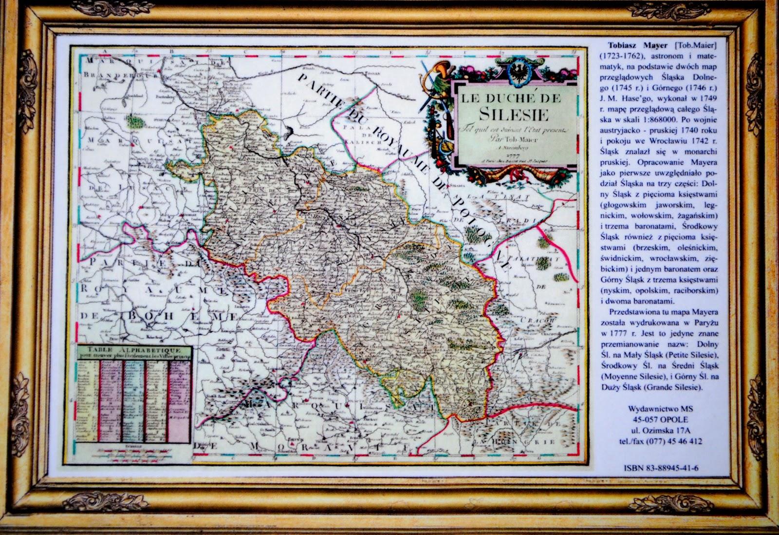 Reprodukcja starej mapy