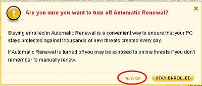 How to cancel norton auto renewal