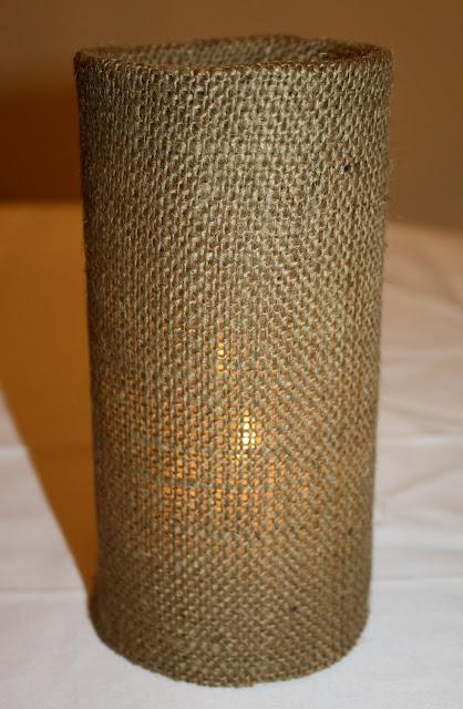 DIY Burlap Vase