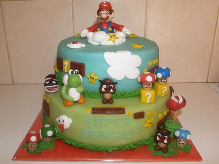 50 awesome super mario cakes damn cool pictures. Black Bedroom Furniture Sets. Home Design Ideas