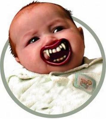 Halloween Lil Vampire Pacifier Damn Cool Pictures