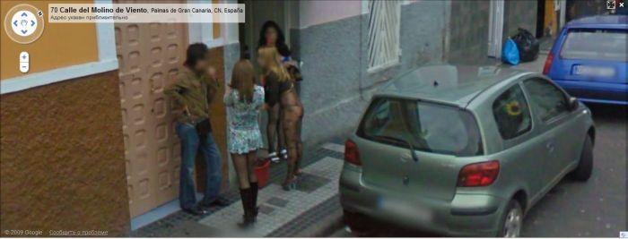 prostitute caught on google maps