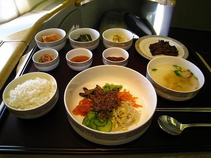 As refeições servidas na primeira classe