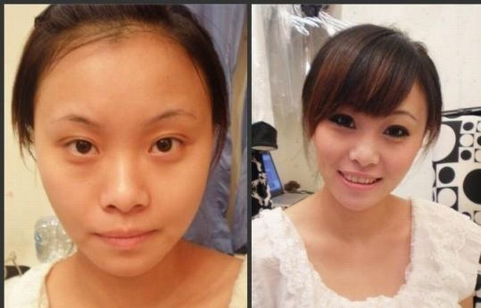 Asian Girls Before And After Make Up Damn Cool Pictures