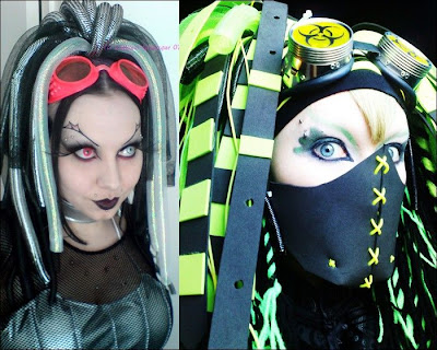 ازياء عالم الايمو Cyber Goth Girls
