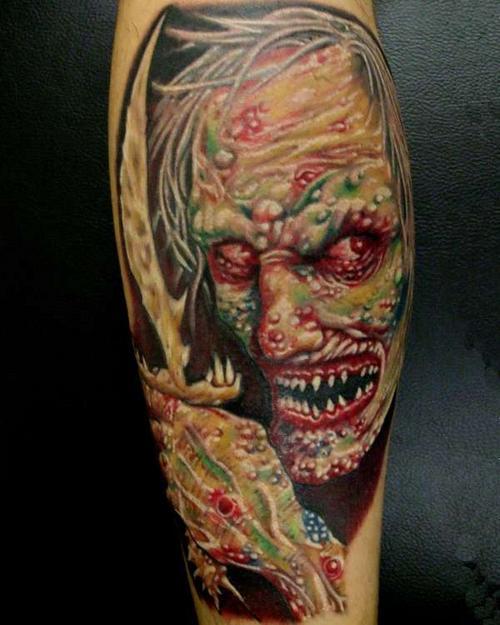 20 Gruesome Zombie Tattoos