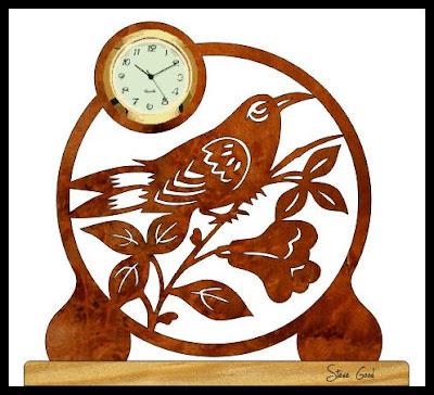 Scrollsaw Workshop Mini Clock Scroll Saw Pattern