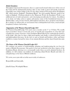 The Millennial Freemason: Winston Churchill Lodge #351