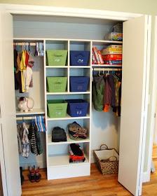Clever closet storage