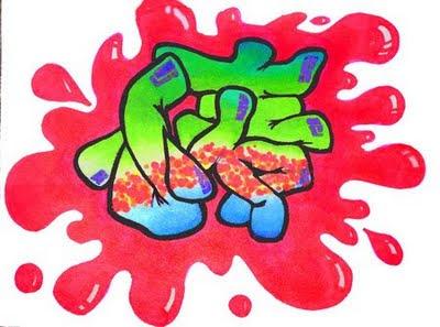blood bubble letters