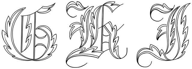 Scaninglisfo Fancy Tattoo Lettering Alphabet