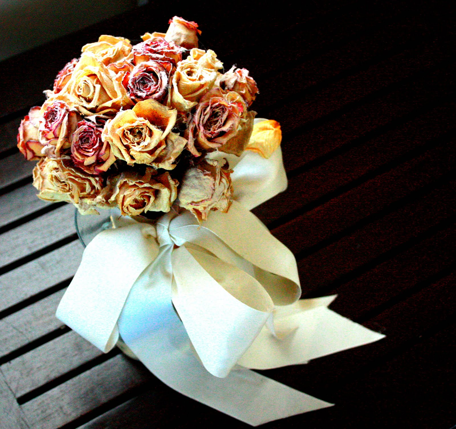 what to do with dried flower boquets